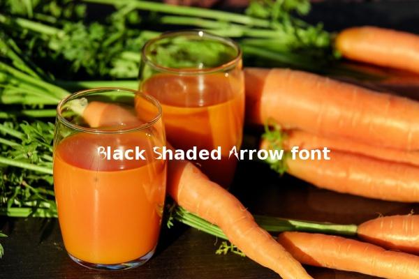 black-shaded-arrow-font