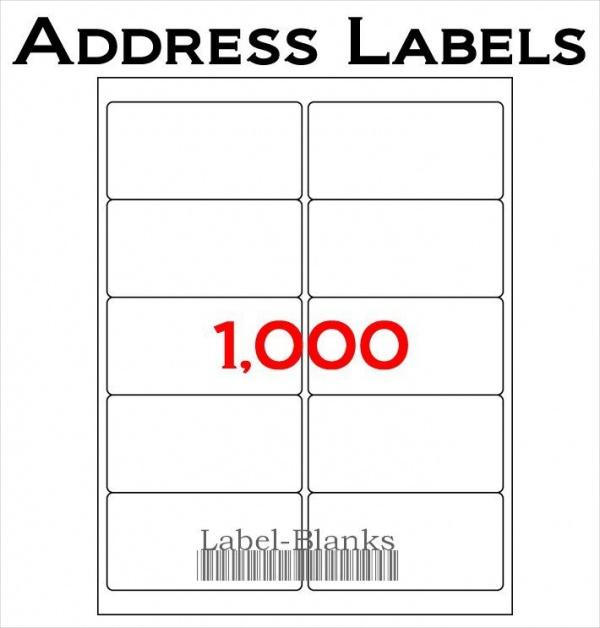 blank address labels
