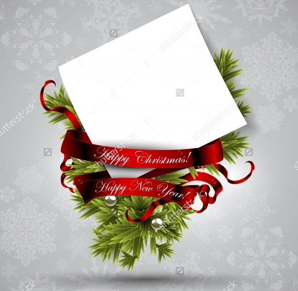 Blank Christmas Card Design