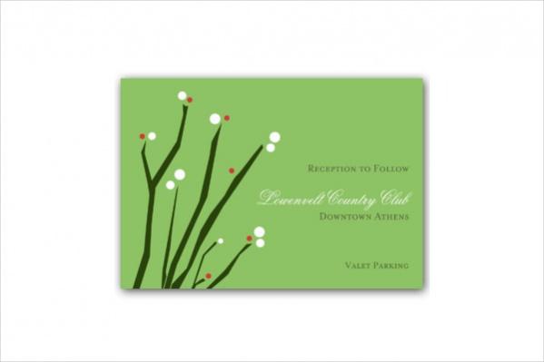 blossom branches reception card