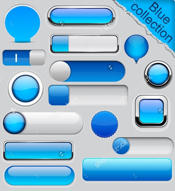 Blue Format Web Buttons