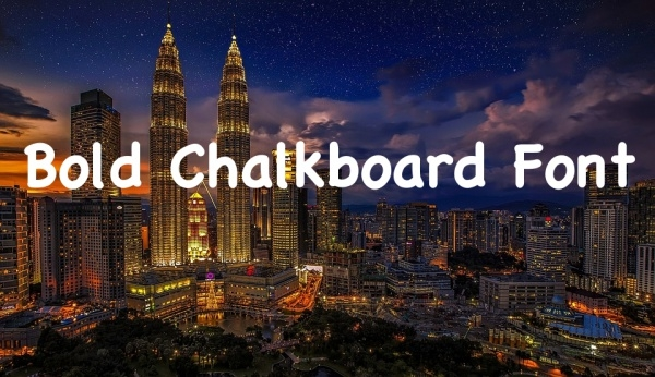 Bold Chalkboard Font