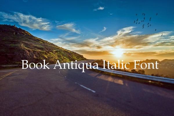 Book Antiqua Bold Italic font