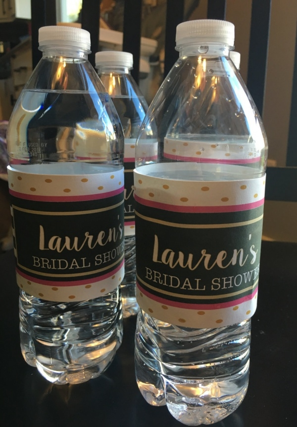 Bridal Shower Water Bottle Label