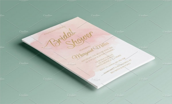 Bridal ShowerPink Watercolor Bridal Shower Invitation
