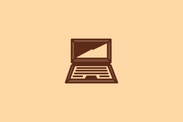 Brown Computer Graphic Logo