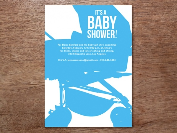Buggy Baby Shower Invitation