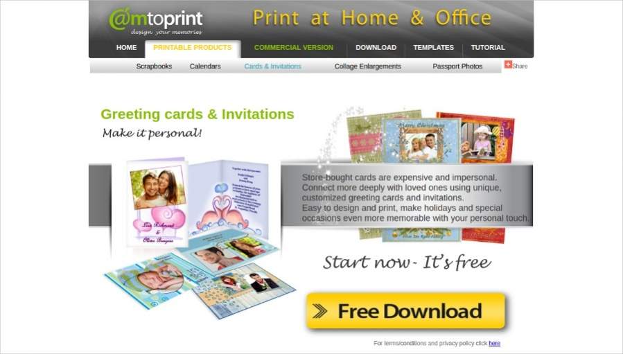 Camtoprint - Cards & Invitations Tool
