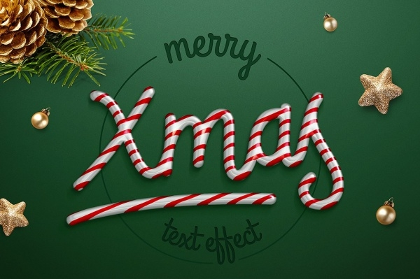 Candy cane Christmas Greetings