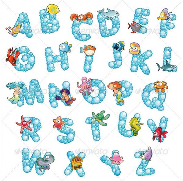Cartoon Bubble Alphabets