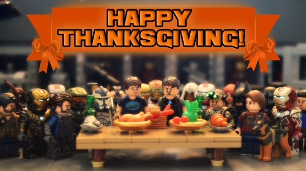 Cartoon Characters Happy Thanksgiving
