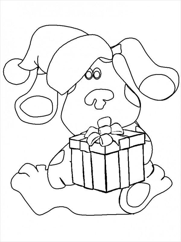 Cartoon Christmas Coloring Page