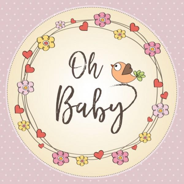 Cartoon Love Baby Shower