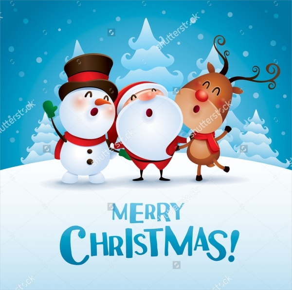 Cartoon Vector Christmas Greetings