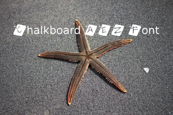 Chalkboard AEZ Alphabet Font