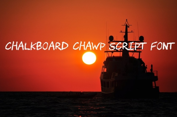 Chalkboard Chawp Script Font