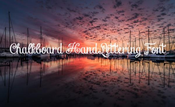 Chalkboard HandLettering Font