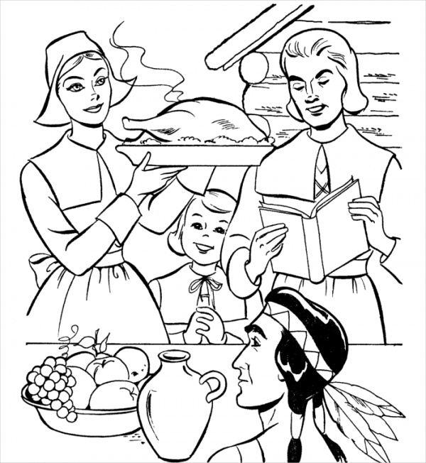 Christian Thanksgiving Coloring Page