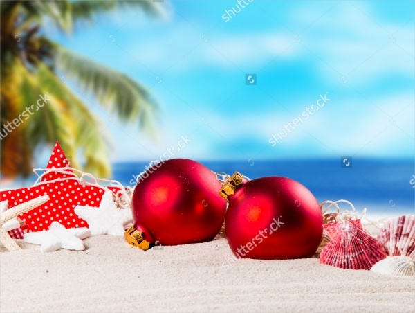 Christmas Beach Photo