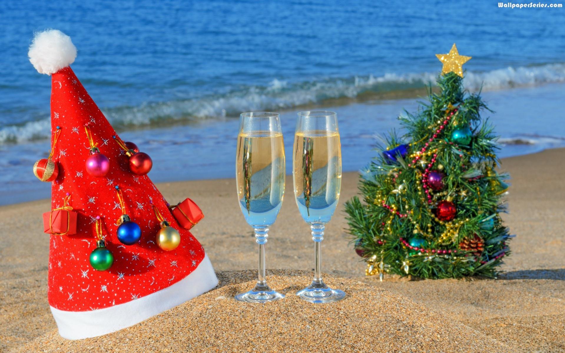Christmas Beach Wallpaper