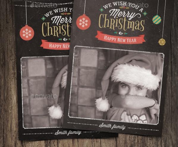 Christmas Grunge Photo Card