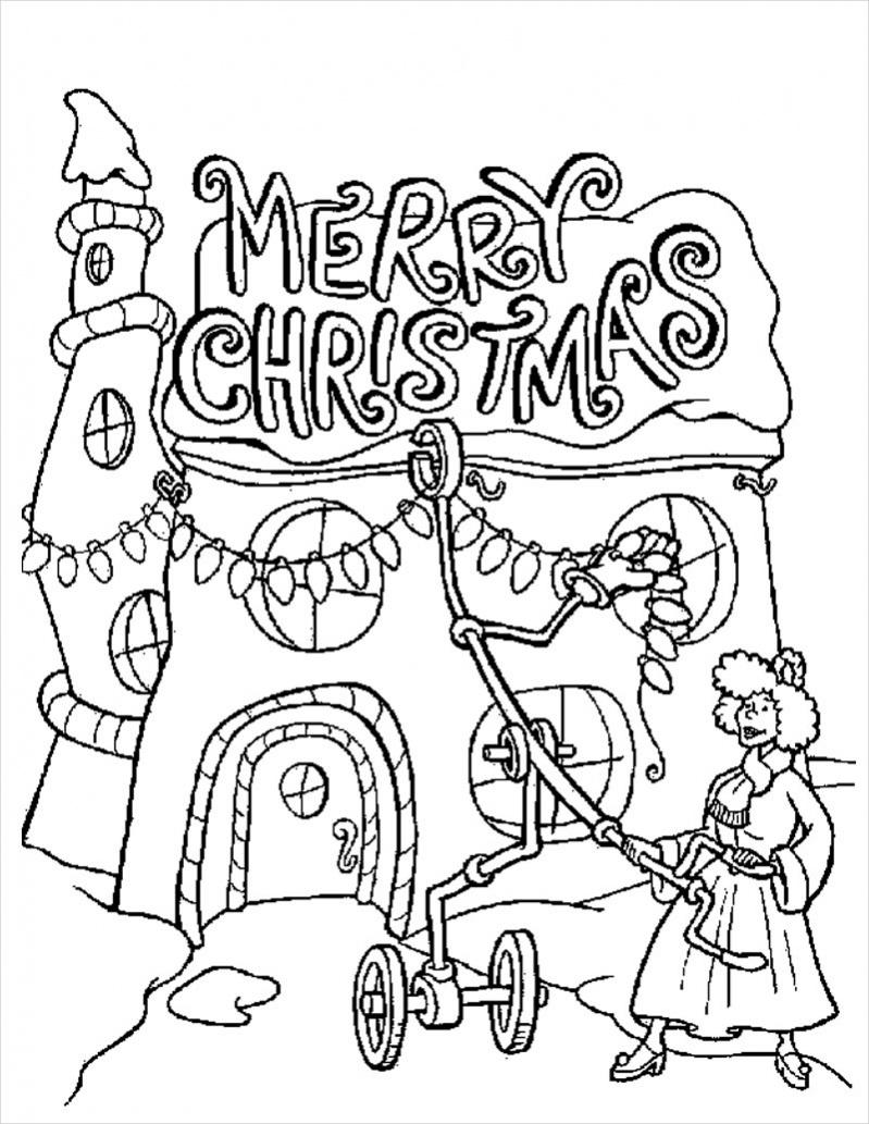 Christmas Lights Coloring Page