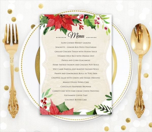 Christmas Menu Card Design