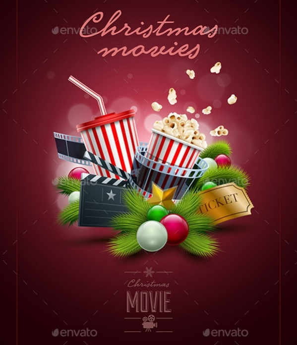 Christmas Movie Poster Design