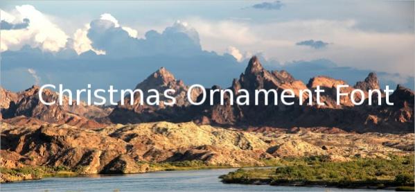 Christmas Ornament Font