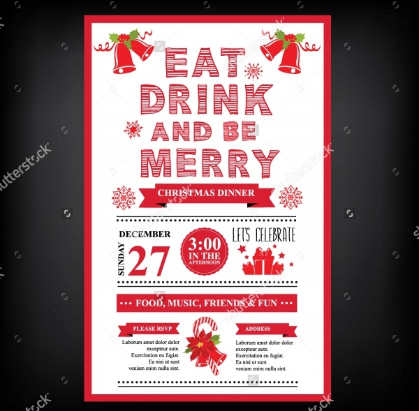 Christmas Restaurant & Party Menu Invitation