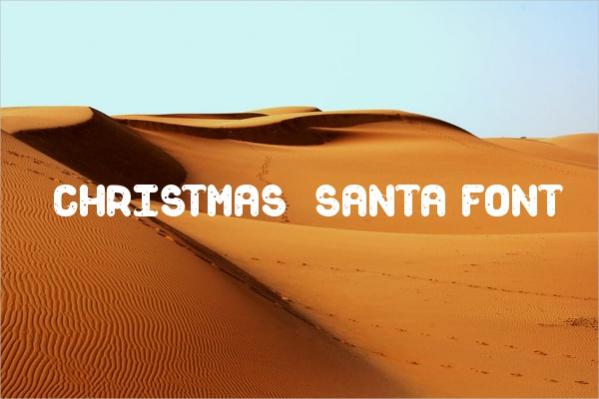 Christmas Santa Font
