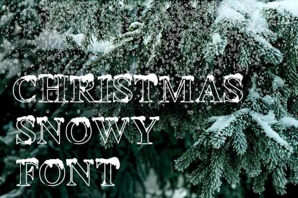 Christmas Snowy Font