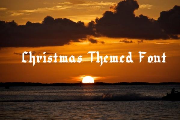 Christmas Themed Font