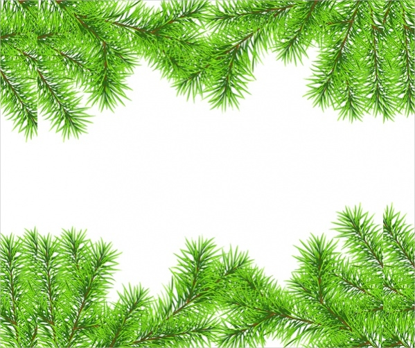 Christmas needles frames vector