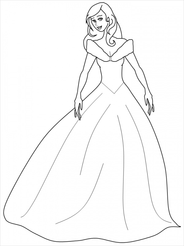 Cinderalla Coloring Page for Kid's