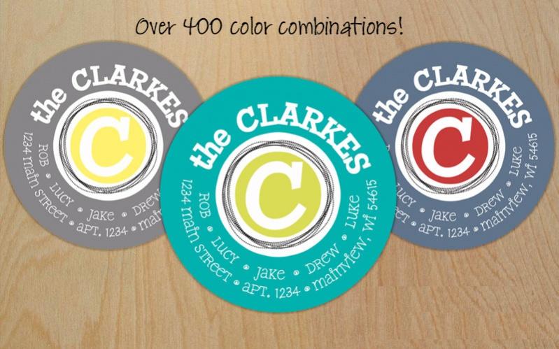 Circle Return Address Labels