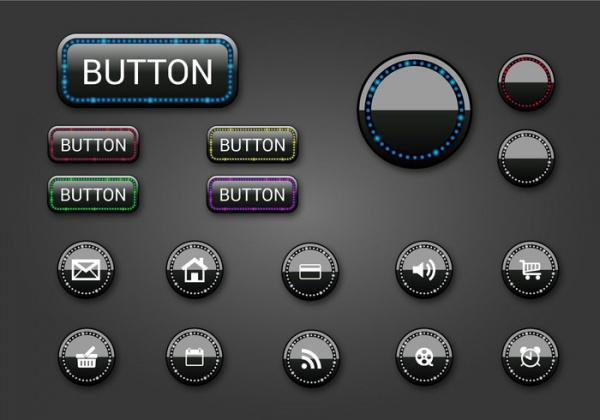Circular Dark Web Buttons