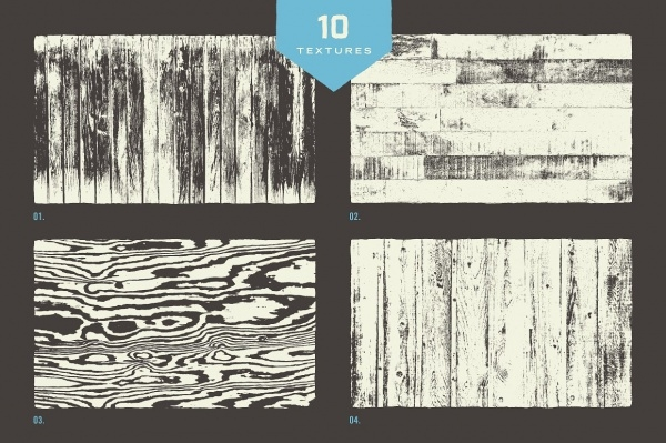 Collection Of Wood Grain Textures