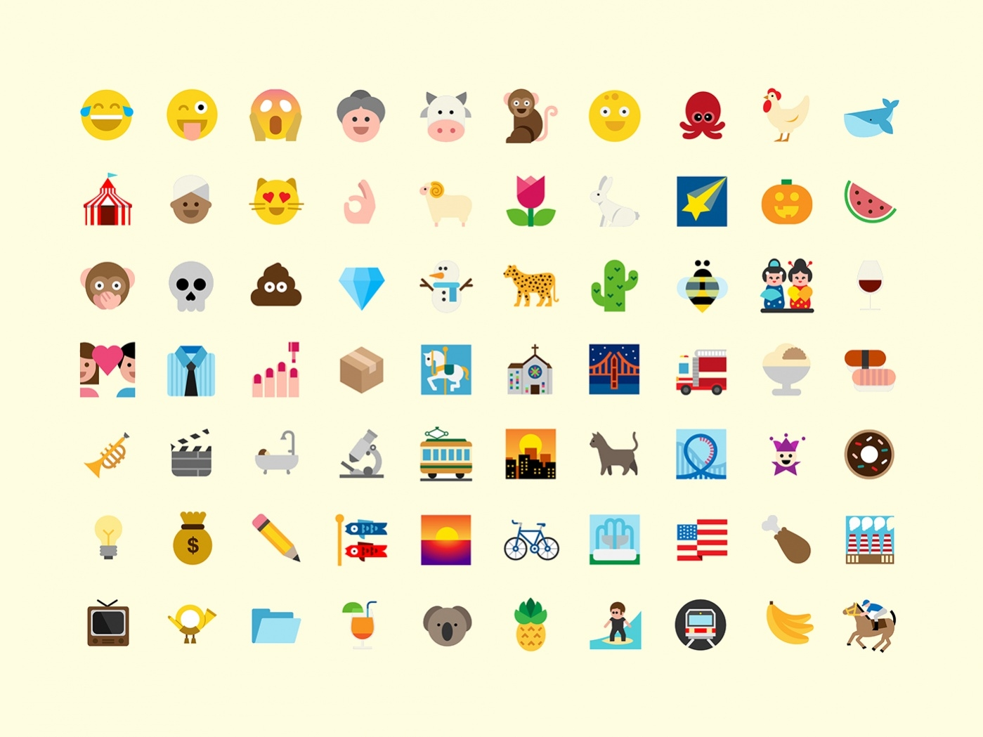 collection of free emojis