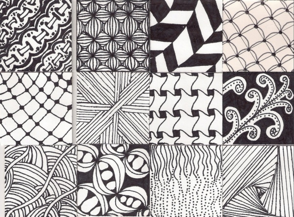 Collection of Zentangle Pattern