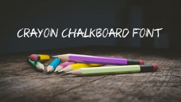 Colored Crayon Chalkboard Font