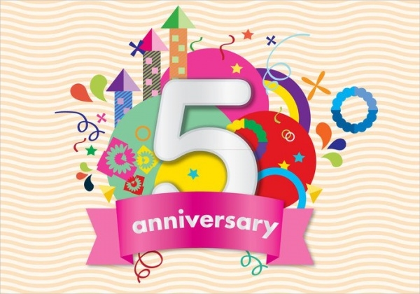 Colorful Anniversary Card
