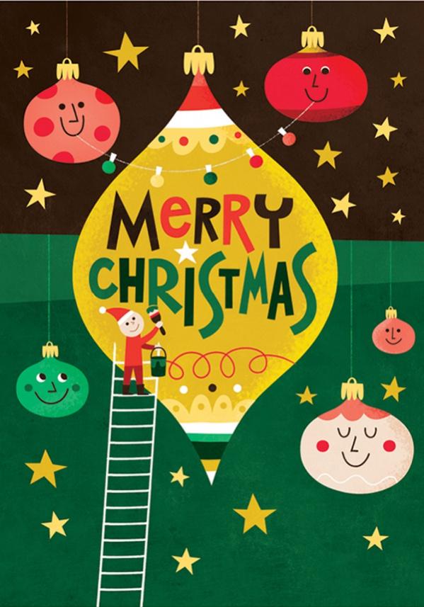 Colorful Kids Christmas Card