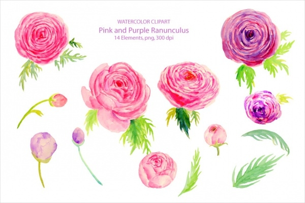 Colorful Wedding Clipart Design