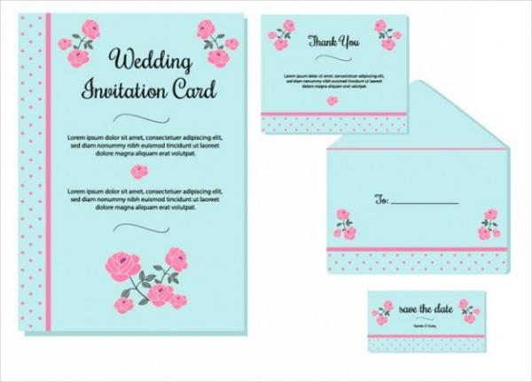 Colorful Wedding Invitation Card