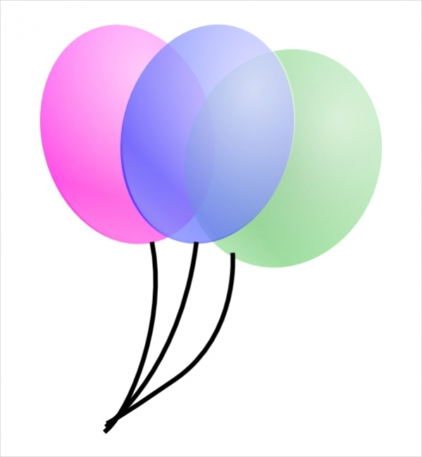Colorful birthday Ballons clipart