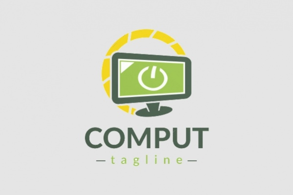 Computer Desktop Power Logo