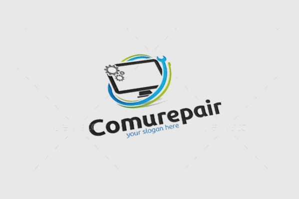 Computer Logo for Services