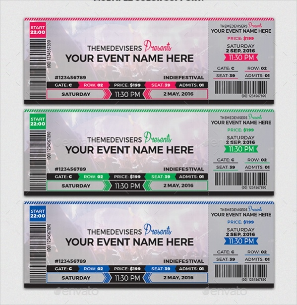 Concert PSD Ticket Design