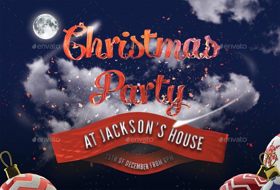 Contemporary Christmas Party Invitation